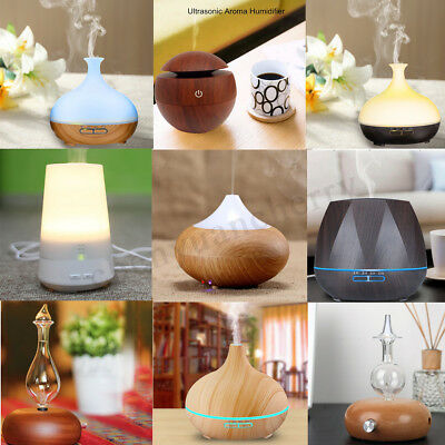 LED Ultrasonic Diffuser Essential Oil Humidifier Air Aromatherapy Home Purifier