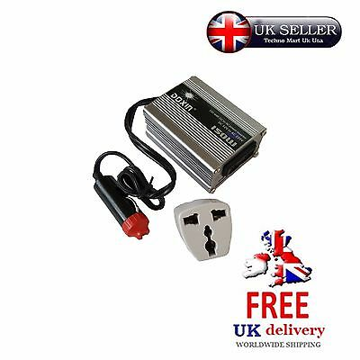 150W Portable Universal Car Power Inverter (Dc 12V To Ac 220V) Converter Charger