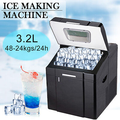 3.2L Counter Top Ice Maker 24kg Output 41 x 35.5 x 43cm Black Icecube Machine