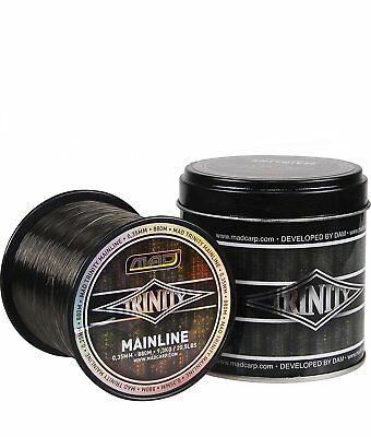 MAD Trinity Mainline 1260m - 0,30mm 7.01kg, monofile Karpfenschnur in Metallbox