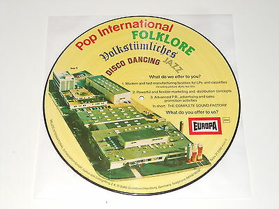 EUROPA LABEL - PICTURE DISC LP - Miller Inernational - INCREDIBLE RARE !!!