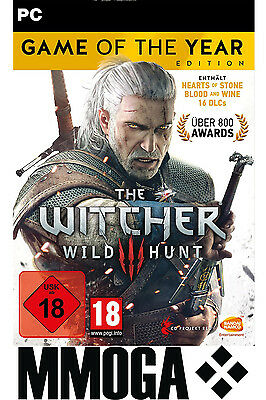 The Witcher 3 III Game of the Year Edition Key - GOG Code GOTY Edition PC EU DE
