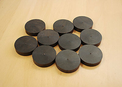 African Blackwood Discs, 59mm Dia. for game counters, craft projects, etc.