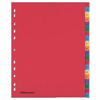 Office Depot Polypropylene punched Dividers A4 Extra Wide A-Z Multi Colour