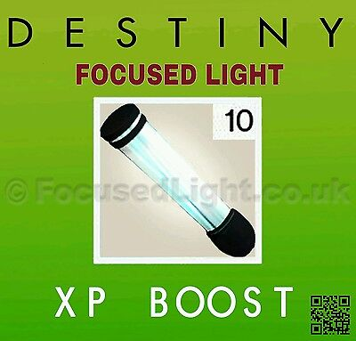 DESTINY 10 FOCUSED LIGHT XP Boost DLC  RISE OF IRON   * INSTANT DELIVERY 24/7 *