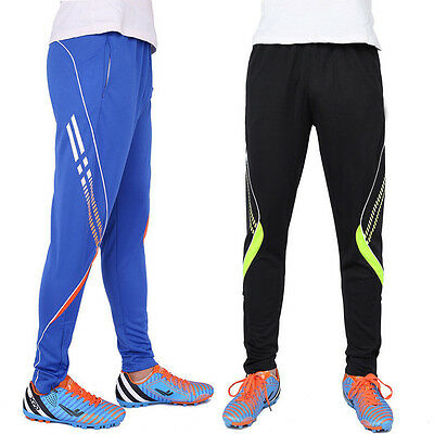 Mens kids Sportswear Gym Running Football Training Pants Soccer Jersey Trousers