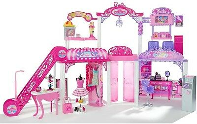 Barbie Malibu Ave Mall PlaySet Shopping Centre With 2 Dolls Plus FREE GIFT INC!