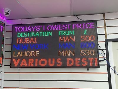 """LED full Color Programmable Scrolling Indoor P6 sign image video GIF 24""""X48"""""""