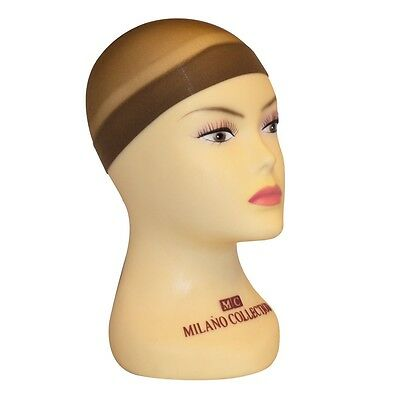 Milano Collection Professional Nylon Mesh Wig Stocking Liner Cap In Brown 9 PACK
