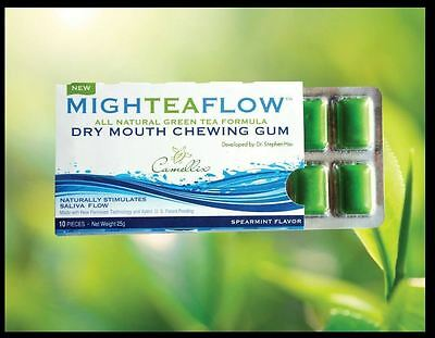 (2 Pack) Mighteaflow Dry Mouth Gum, Speariment, 8x10ct 858168003015DT