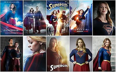 10 SUPERGIRL Season 1 TV Show Promo Card PVC Charactor Transparent Photo CARD A