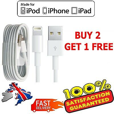 Genuine USB Sync Charger Data Lead Cable For Apple iPhone 7 6 5 5C 5S iPad 4 Air