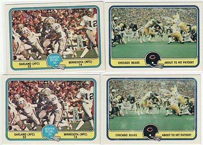 259 - 1981 Fleer Team Action Football Cards Walter Payton Manning Csonka Dorsett