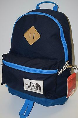The North Face Kids Youth Mini Berkeley Backpack Book School Bag Blue NEW