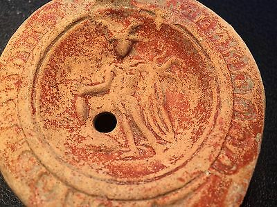 Roman Egypt Oil Lamp - Winged MERCURY  - 100-300AD