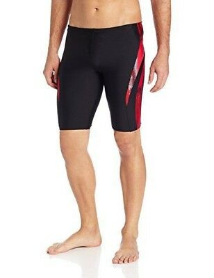 Speedo Boys Xtra Life Lycra Digital Surge Jammer RED Swimsuit 22-28