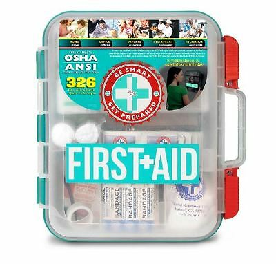 First Aid Kit Hard Case 326 Pieces OSHA and ANSI Guidelines FACTORY FRESH!!
