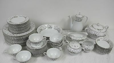 Style House Vintage Japan China Picardy Huge Set 59 Pcs  Covered Dish Gravy More