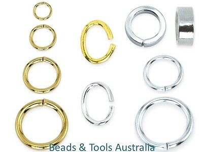 Beadalon Jump Rings & Split Rings - Assorted Colours & Sizes 144pcs BEADS & TOOL