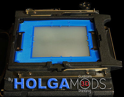 "Pack Film Frame Aid for 4x5 Crown or Speed Graph with Graflok back ""Blue"""