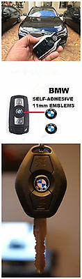 4 X BMW 11MM Replacement Remote Key Decal Fob Logo Badge Emblem Sticker