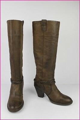 Boots La Redoute Création Brown Leather Moderate T 38 Be