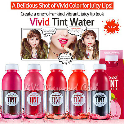 Korean Peripera Vivid TINT WATER Lip Stain Tint Color 5.5ml NEW Ver**US SELLER**