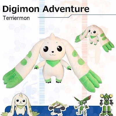 "Digimon Adventure Terriermon Long Ears 18"" Anime Plush Doll Toy Gift Cosplay"