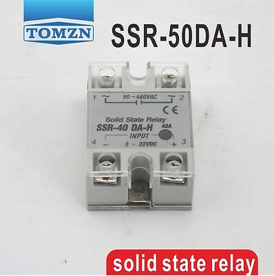 SSR-50DA-H input 3-32VDC load 90-480VAC single phase AC solid state relay