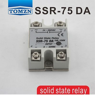 75DA SSR input 3-32V DC load 24-380V AC single phase AC solid state relay