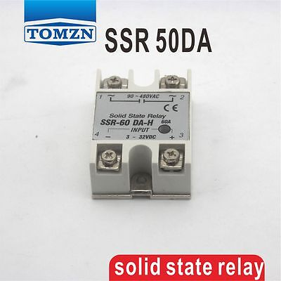 50DA SSR input 3-32V DC load 24-380V AC single phase AC solid state relay