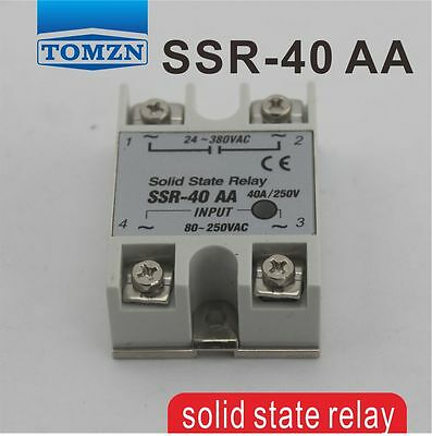 40AA SSR input 80~250V AC load 24-380V AC single phase AC solid state relay