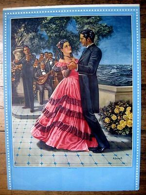 Vintage Mexican Pin Up Girl Picture by Antonio Gomez R. Dancing Couple