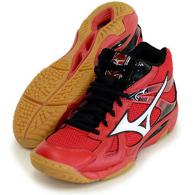 Mizuno Japan Men's WAVE ODEEN MID Volleyball Shoes Red V1GA1655 2016 New