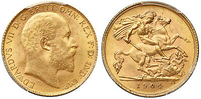 Great Britain 1904 Gold Half Sovereign PCGS MS65