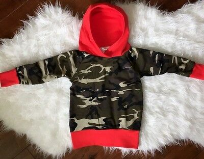 Infant Baby Boys Camouflage Hooded Tops Clothes Hoodie Coat Sweatshirt 0-24M