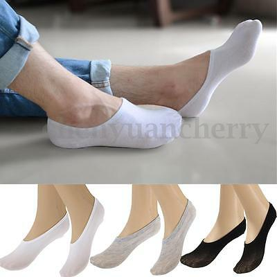 10 Pairs Men Women No Show Non-Slip Invisible Low Cut Boats Socks Cotton Rich