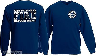 Kinder Sweatshirt navy, CHICAGO FIRE DEPT., in weiss