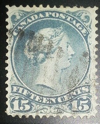 Large Queen 1868 30 b Slaty Blue Nice Stamp, Shade