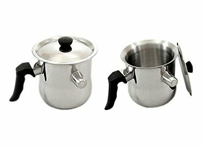 Milk Chocolate Melting Whistling Pot Pan Stainless Steel 1 L / 1.5 L / 2 L