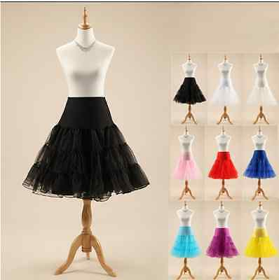 Tutu Petticoat Women Underskirt Crinoline Rockabilly Wedding Bridal fancy Dress