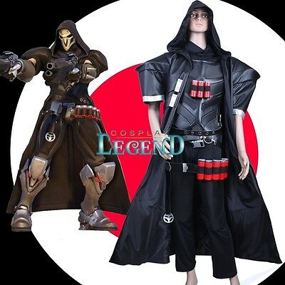 Overwatch Reaper cosplay costume Custom made