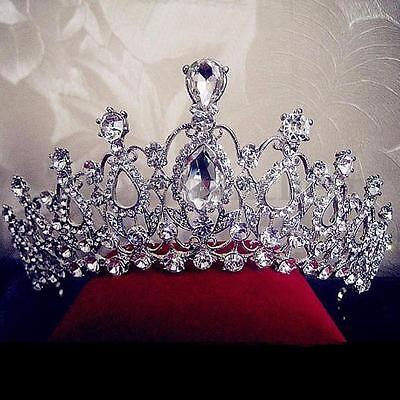 Beauty Pageant Queen Rhinestone Bridal Wedding Prom Tiara Comb Crown Fashion USA