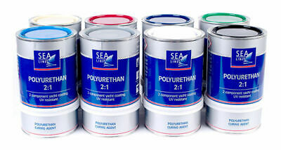 2K PURE 2:1 Polyurethane Bootsfarbe Topcoat Paint color 750 ml with harder