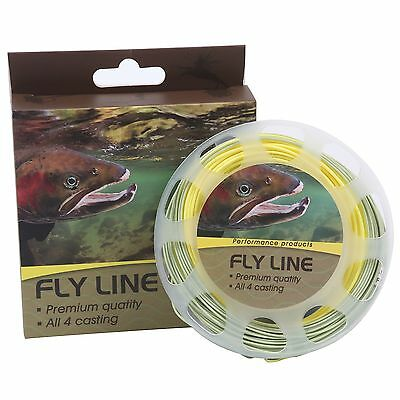 Maxcatch Fly Fishing Line Weight Forward Floating 100ft Green/Yellow (5F/6F/8F)