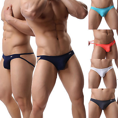 New Solid Color Mens Backless Sexy Jockstrap Underwear Thong Strings T-back