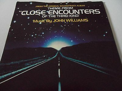 """John Williams Theme From Close Encounters Of The Third Kind  7"""" Vinyl"""