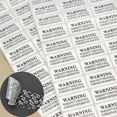 88 Pcs Warranty Void Barcode Security Tamper Evident Label Stickers Seals New