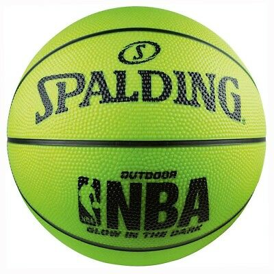 NEW Spalding NBA Glow in the Dark Outdoor Basketball   from Rebel Sport