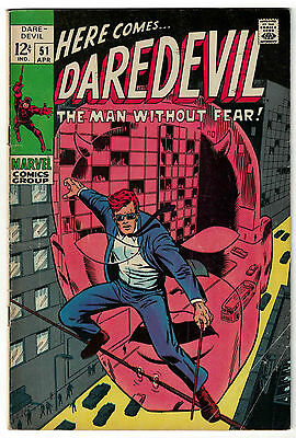 Marvel Comics DAREDEVIL Issue 51 The Man Without Fear VG